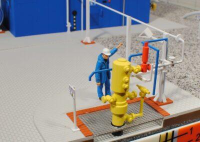 PGNiG, przykład strefy przyodwiertowej na złożu gazu ziemnego